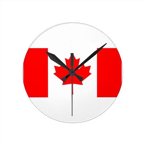 Canadian Flag Wall Clocks