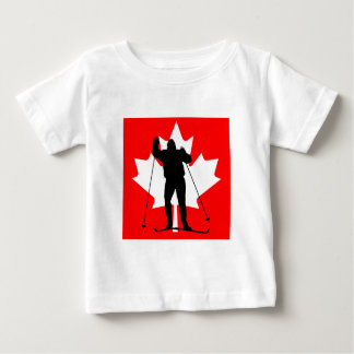 Canadian flag crosscountry skier baby T-Shirt