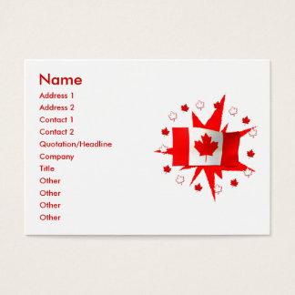 Canadian Flag Design - Chubby Size Business Card