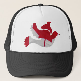 Canadian Flag Dove Trucker Hat