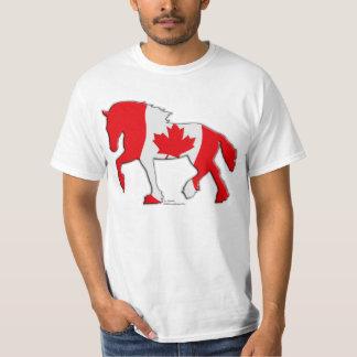 Canadian Flag Draft Horse Shirt