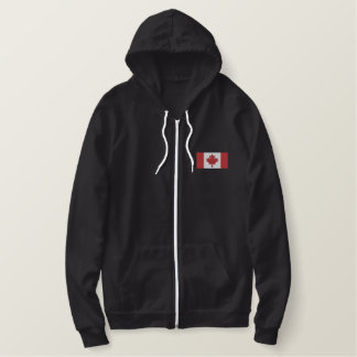 Canadian Flag Embroidered Hoodie