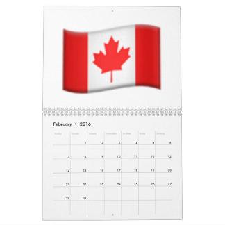 Canadian flag - Emoji Calendar