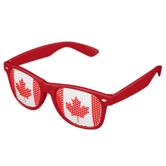 Canadian flag party sunglasses