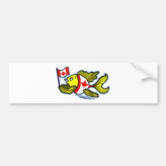 Canadian Flag Fish Bumper Sticker