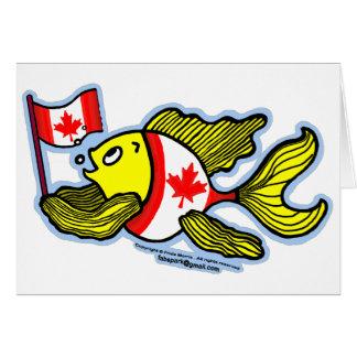 Canadian Flag Fish Card