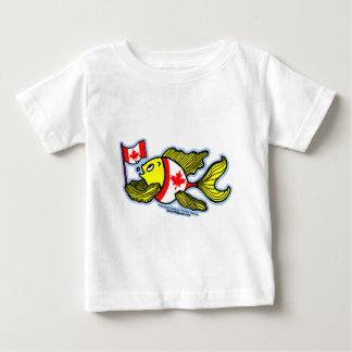 Canadian Flag Fish funny cartoon t-shirt