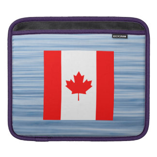 Canadian Flag Floating on water iPad Sleeves