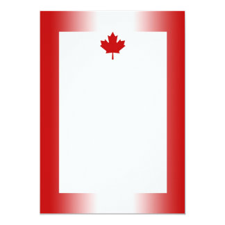 Canadian Flag Gradient 2 Invitation