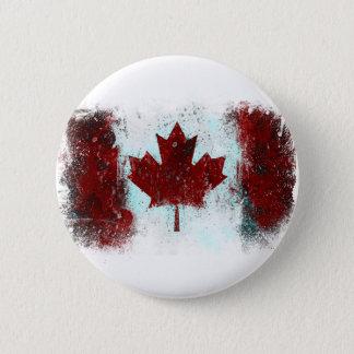 Canadian Flag Graffiti Button