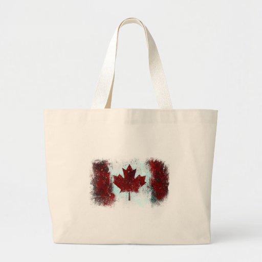 Canadian Flag Graffiti Jumbo Tote Bag