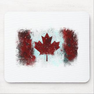 Canadian Flag Graffiti Mouse Pad