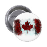 Canadian Flag Graffiti Pinback Buttons