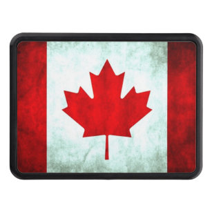 CANADIAN FLAG METAL LICENSE PLATE FOR CARS MAPLE LEAF FLAG OF CANADA l/'Unifolié