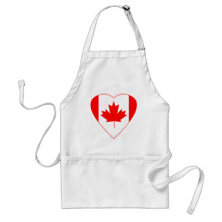 Canadian Flag Heart Adult Apron