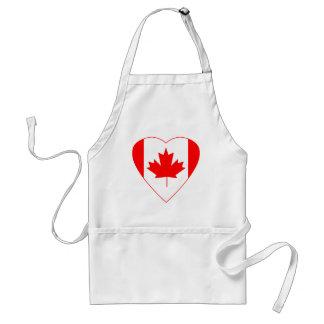 Canadian Flag Heart Adult Apron