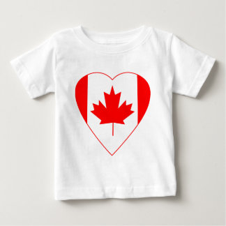 Canadian Flag Heart Baby T-Shirt