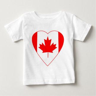 Canadian Flag Heart Baby T-Shirt