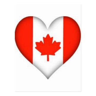 Canadian Flag Heart Postcard