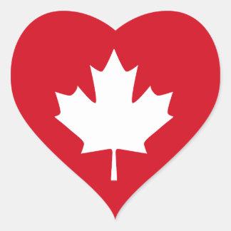Canadian Flag Heart Sticker