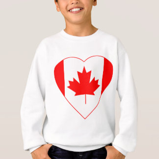 Canadian Flag Heart Sweatshirt