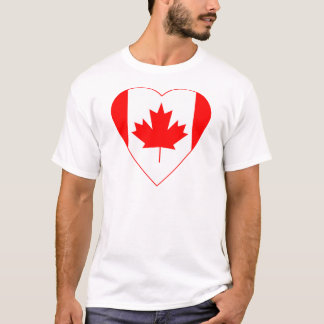 Canadian Flag Heart T-Shirt