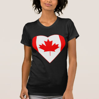 Canadian Flag Heart T Shirt