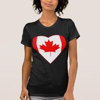 Canadian Flag Heart Tee Shirt
