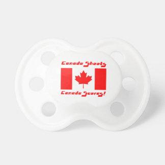 Canadian Flag-Hockey Pacifier