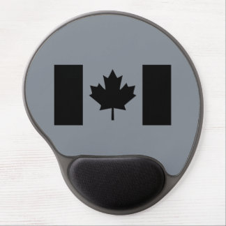 Canadian Flag in Black Decor Gel Mouse Pad