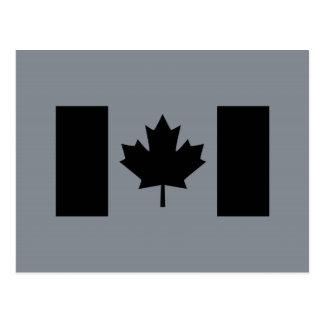 Canadian Flag in Black Postcard