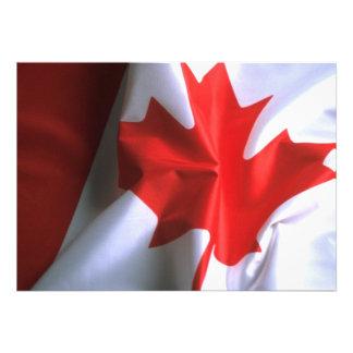 Canadian Flag Invitation Personalized Invite
