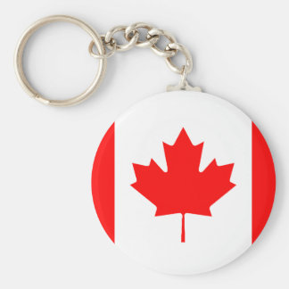 Canadian Flag Keychain