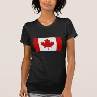 Canadian Flag Ladies Dark T-Shirt