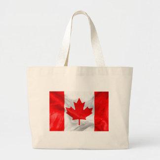 Canadian Flag Large Tote Bag