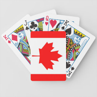 Canadian Flag Leaf Bicycle Playing Cards