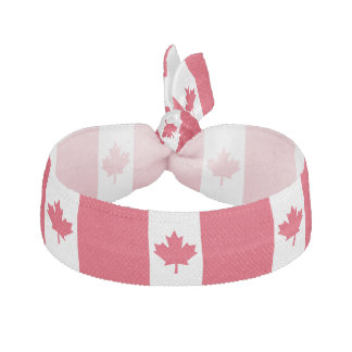 Canadian Flag Maple Leaf Red White Canada Elastic Hair Tie