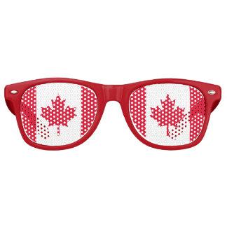 Canadian Flag Maple Leaf Red White Canada Retro Sunglasses