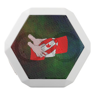 Canadian Flag Maple leaf Rugby Ball White Bluetooth Speaker