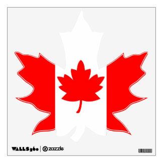 Canadian Flag Maple Leaf Wall Decal