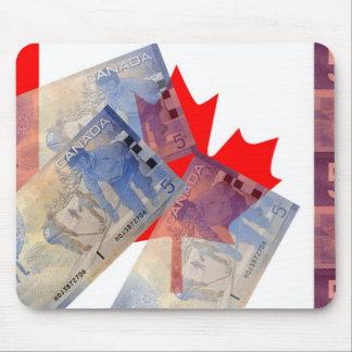 Canadian Flag & Money Mousepad