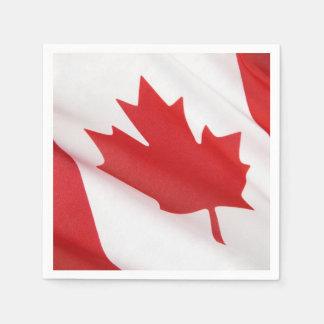 Canadian flag napkin