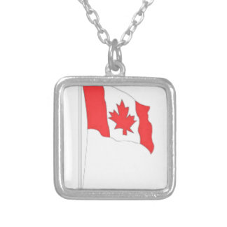 Canadian Flag Personalized Necklace