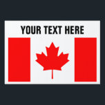 "Canadian flag of Canada custom yard signs<br><div class=""desc"">Canadian flag of Canada custom yard signs. Stick it in the ground with H frame. Create your own lawn signage for Canada Day party,  welcome home,  events,  wedding,  politics,  political support,  national holidays,  family reunions,  Birthday etc. Red maple leaf flag.</div>"