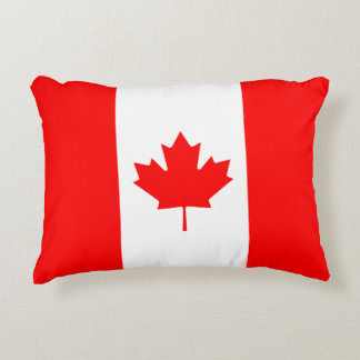 Canadian Flag of Canada Maple Leaf Decorative Pillow