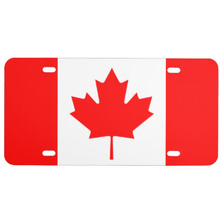 Canadian Flag of Canada Maple Leaf License Plate