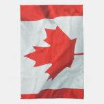 Canadian Flag of Canada Maple Leaf Patriotic Image Hand Towel