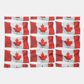 Canadian Flag of Canada Maple Leaf Patriotic Image Towel