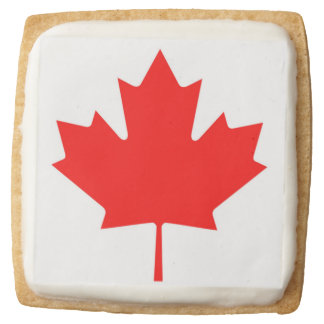 Canadian Flag of Canada Red Maple Leaf Cookies