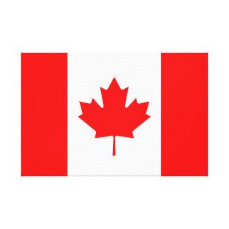 Canadian Flag of Canada Red Maple Leaf l'Unifolié Gallery Wrap Canvas